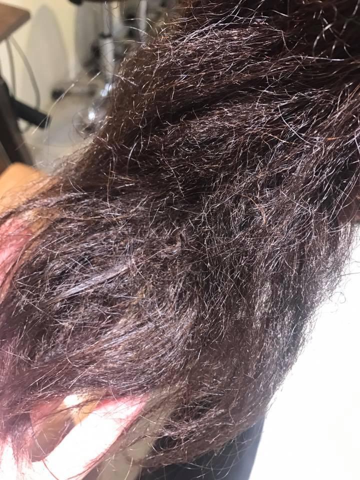 縮毛矯正の色々実験。ビビりなおしetc…