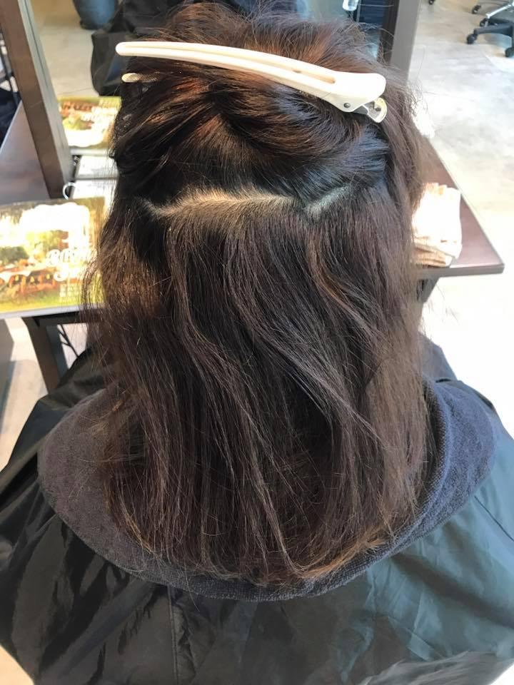 施術写真。細くて硬い毛をやわらかく。
